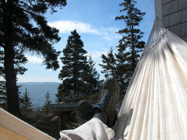 Cedarledge deck View from Hammock